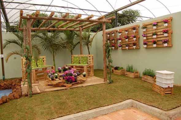 Artesanato rústico para seu jardim 012