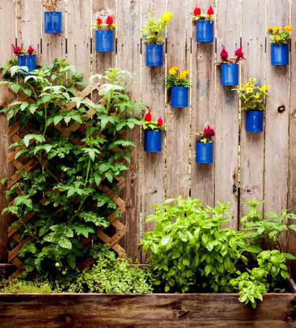 Artesanato rústico para seu jardim 013