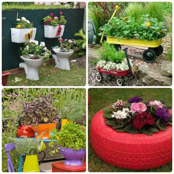 Artesanato rústico para seu jardim 014