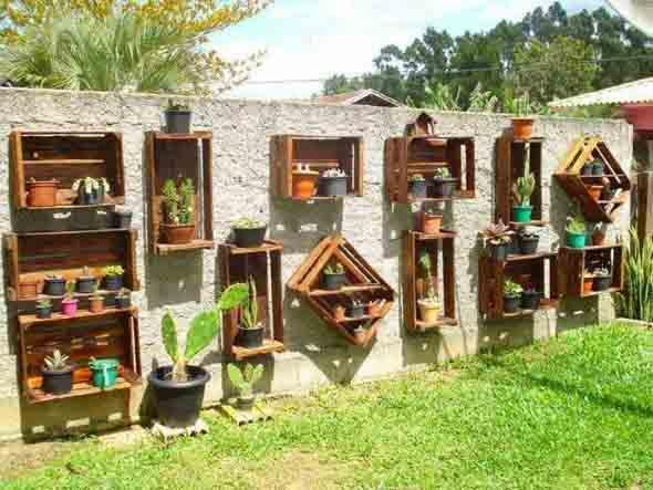Artesanato rústico para seu jardim 016
