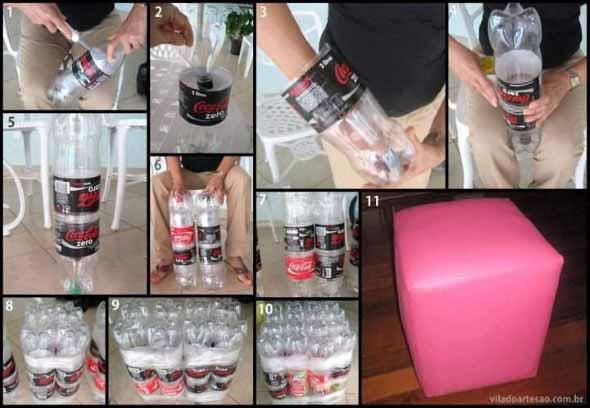 Faça artesanato com garrafas de plástico 007