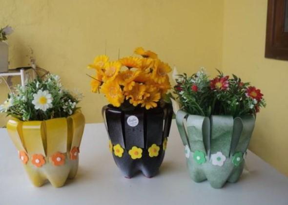 Faça artesanato com garrafas de plástico 014