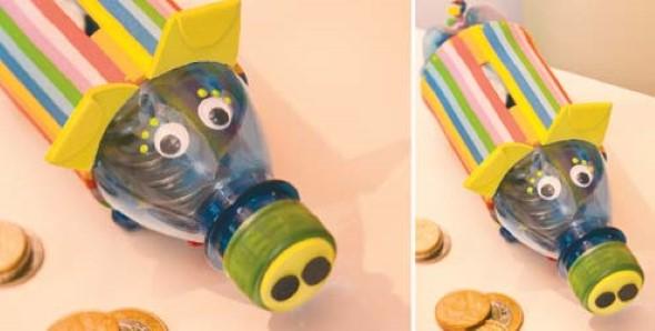 Faça artesanato com garrafas de plástico 015