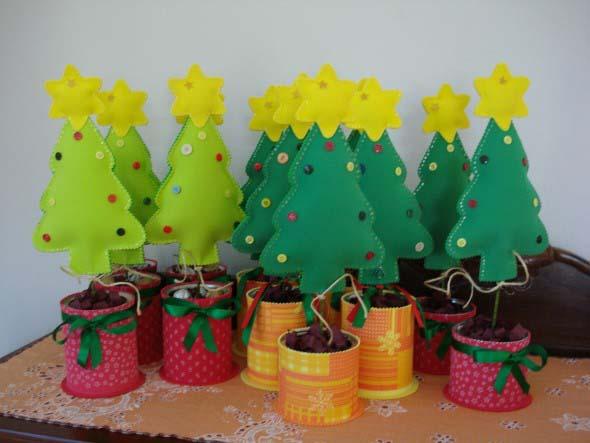 Ideias criativas para montar sua árvore de Natal 011