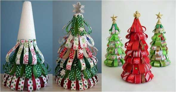 Ideias criativas para montar sua árvore de Natal 013