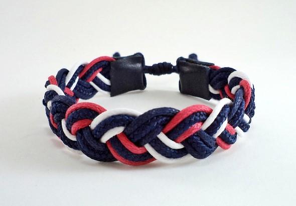 Aprenda a fazer pulseiras navy 001