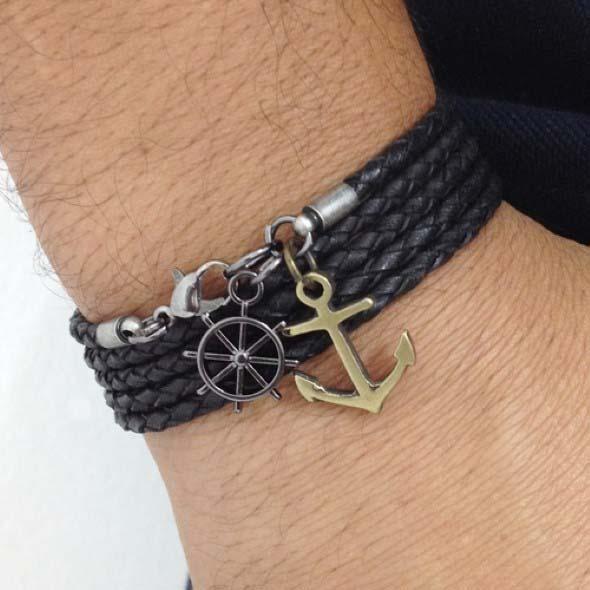 Aprenda a fazer pulseiras navy 008