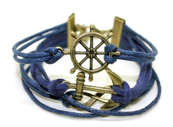Aprenda a fazer pulseiras navy 014