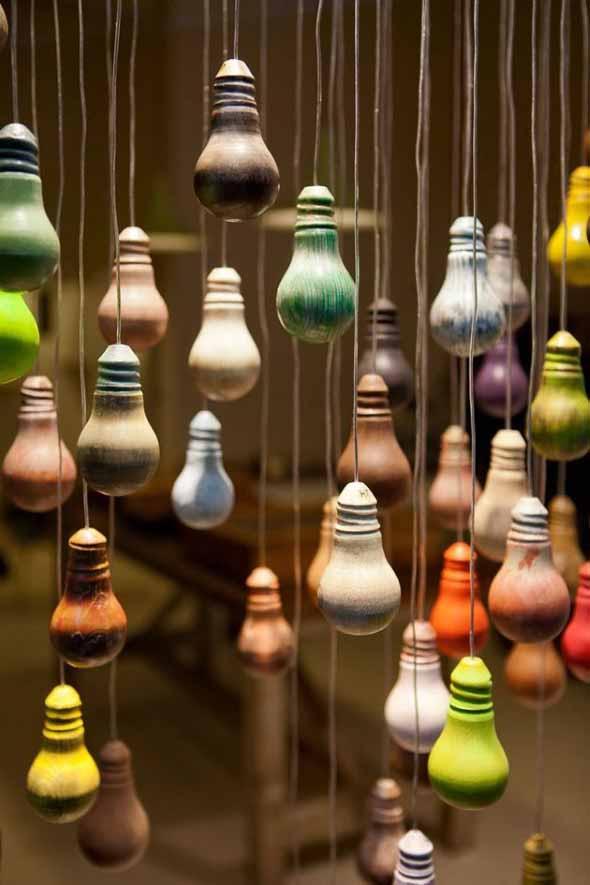 Artesanato com lâmpadas queimadas 002