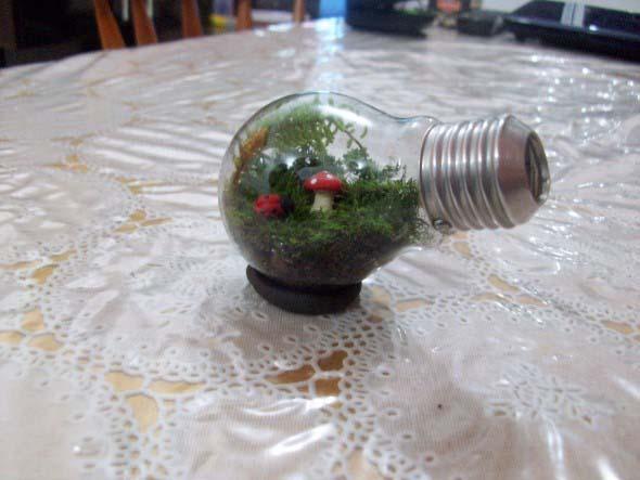 Artesanato com lâmpadas queimadas 014