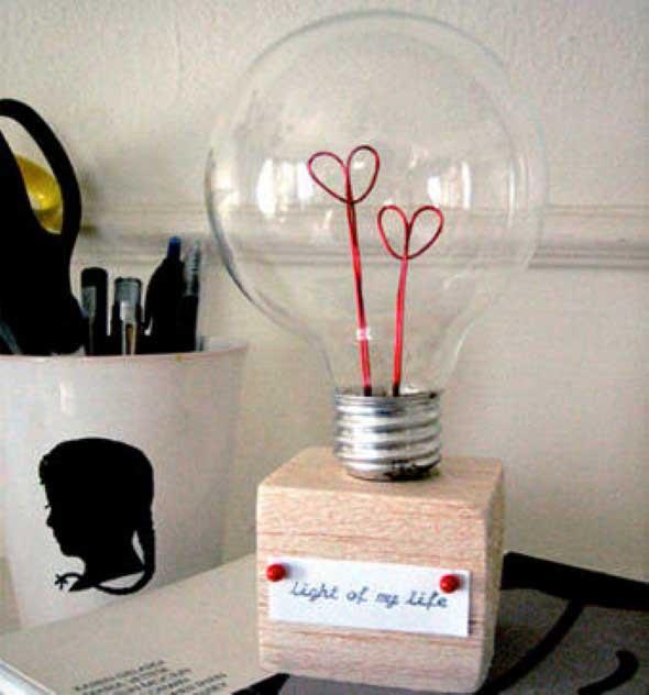 Artesanato com lâmpadas queimadas 015