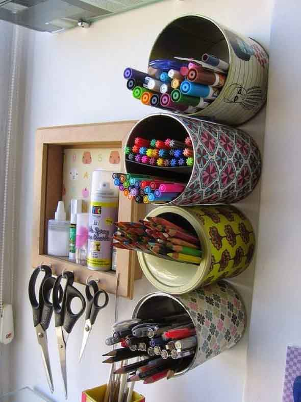Como fazer porta-lápis de parede 004