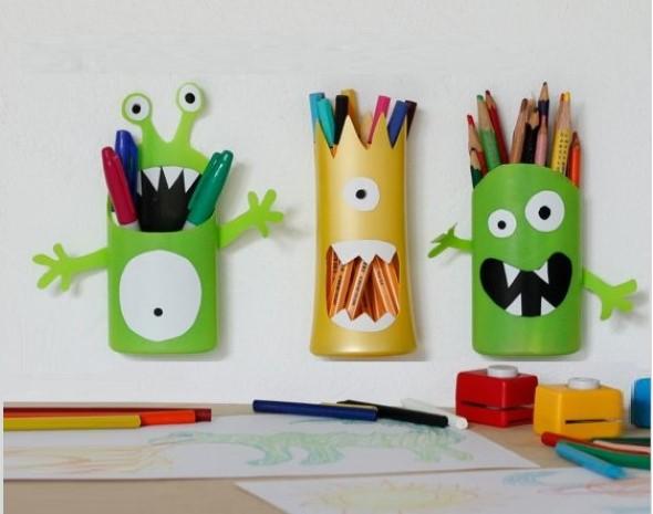 Como fazer porta-lápis de parede 005
