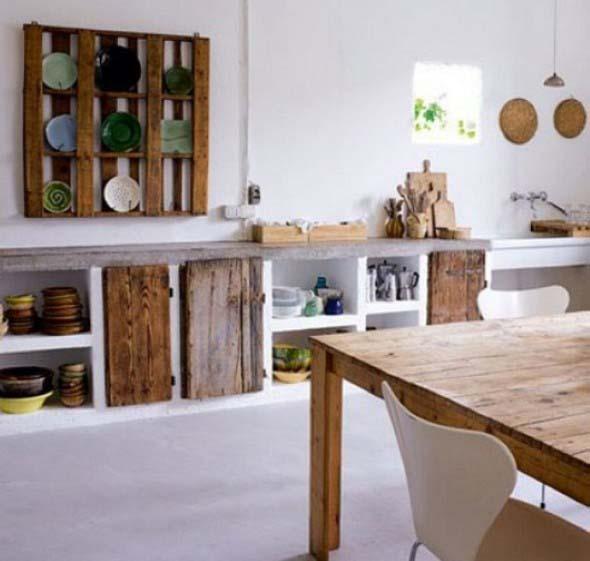 15 Ideias de artesanato com paletes na cozinha 008
