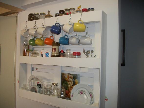 15 Ideias de artesanato com paletes na cozinha 009