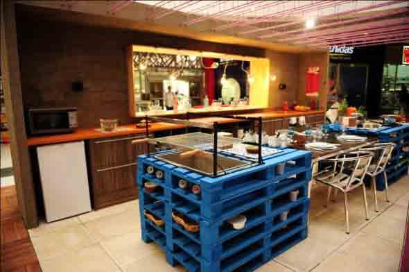 15 Ideias de artesanato com paletes na cozinha 011
