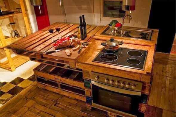 15 Ideias de artesanato com paletes na cozinha 012