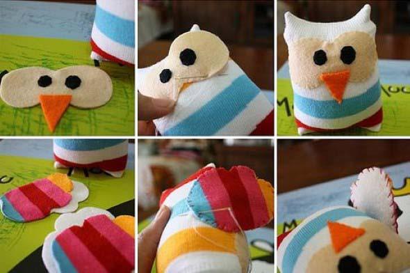 Como fazer um boneco com meias de algodão 004