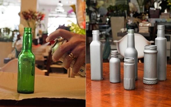 Como pintar garrafas de vidro em casa 006