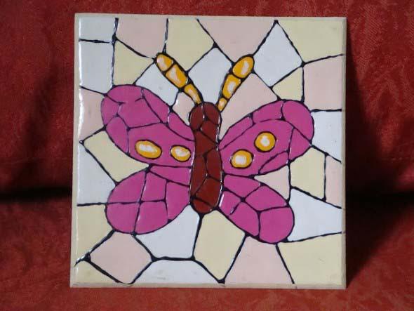 Falso mosaico em MDF 006