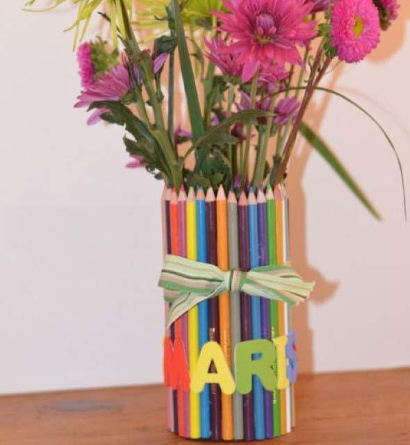 Ideias de artesanato com lápis de cor 001