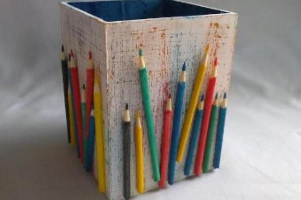 Ideias de artesanato com lápis de cor 002