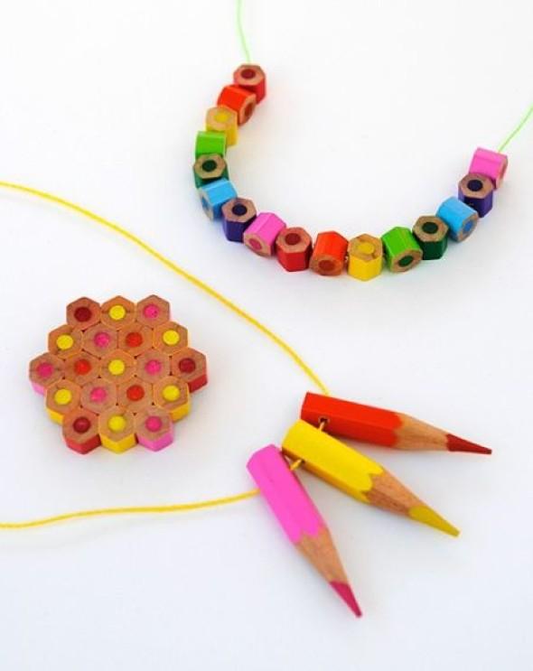 Ideias de artesanato com lápis de cor 008