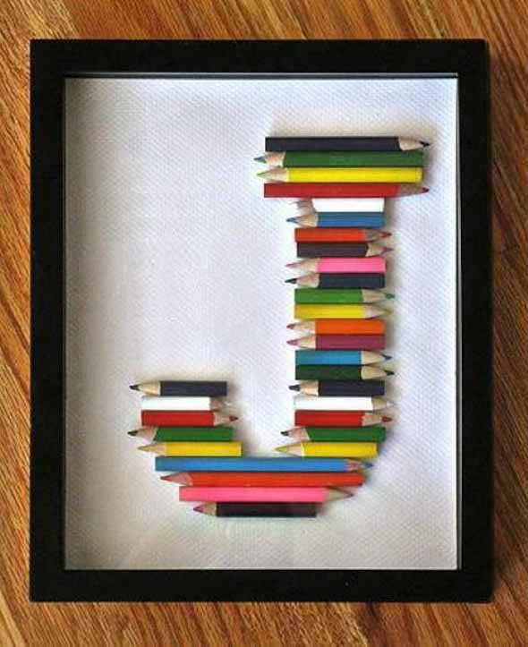 Ideias de artesanato com lápis de cor 012
