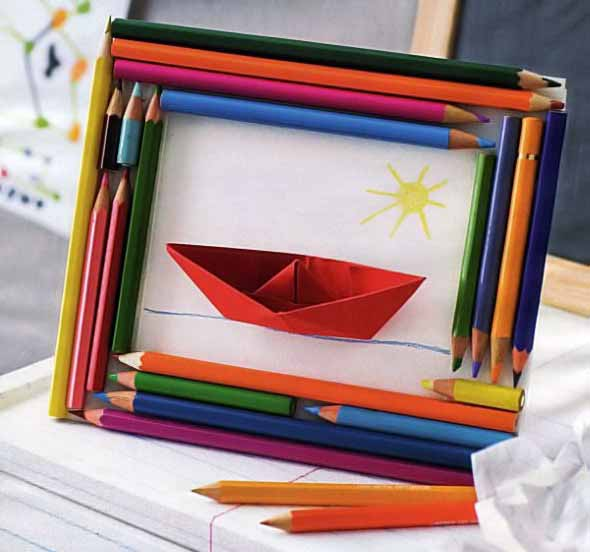 Ideias de artesanato com lápis de cor 015
