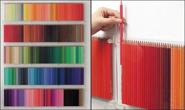 Ideias de artesanato com lápis de cor 016