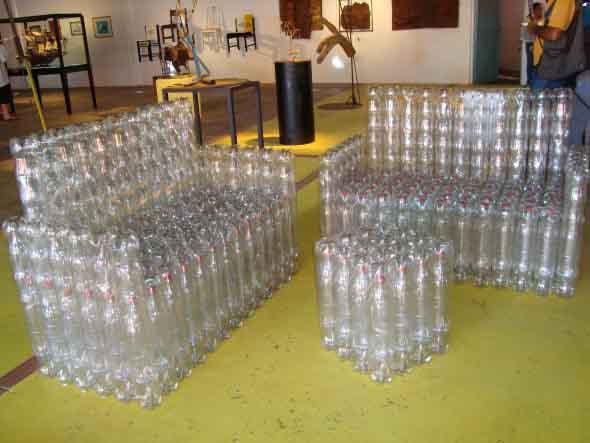 Maneiras criativas de arte com garrafas PET 008