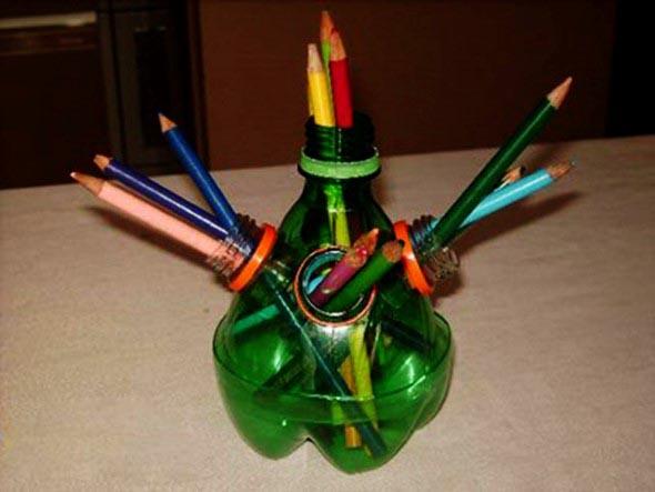 Maneiras criativas de arte com garrafas PET 014