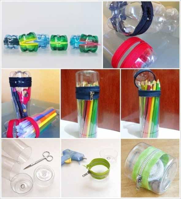Maneiras criativas de arte com garrafas PET 017
