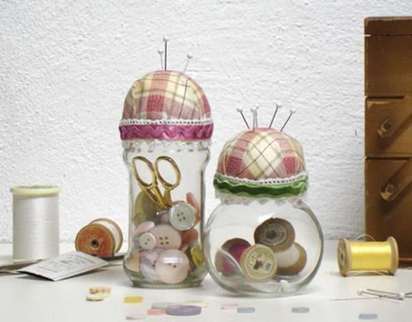 Artesanato com frascos de vidro 009