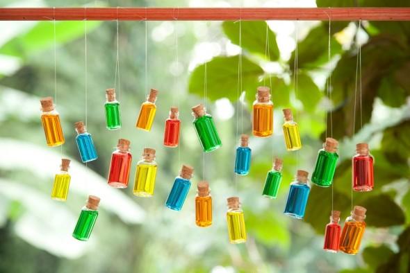 Artesanato com frascos de vidro 012