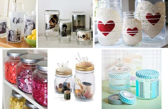 Artesanato com frascos de vidro 014
