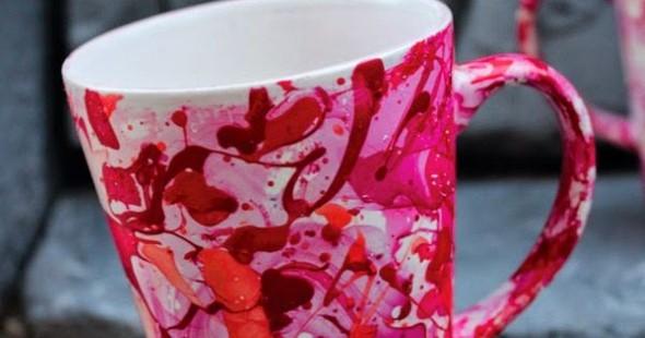 Caneca marmorizada com esmalte 007