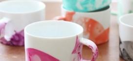 Como fazer caneca marmorizada com esmalte