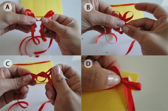 Como fazer laço de fita 002