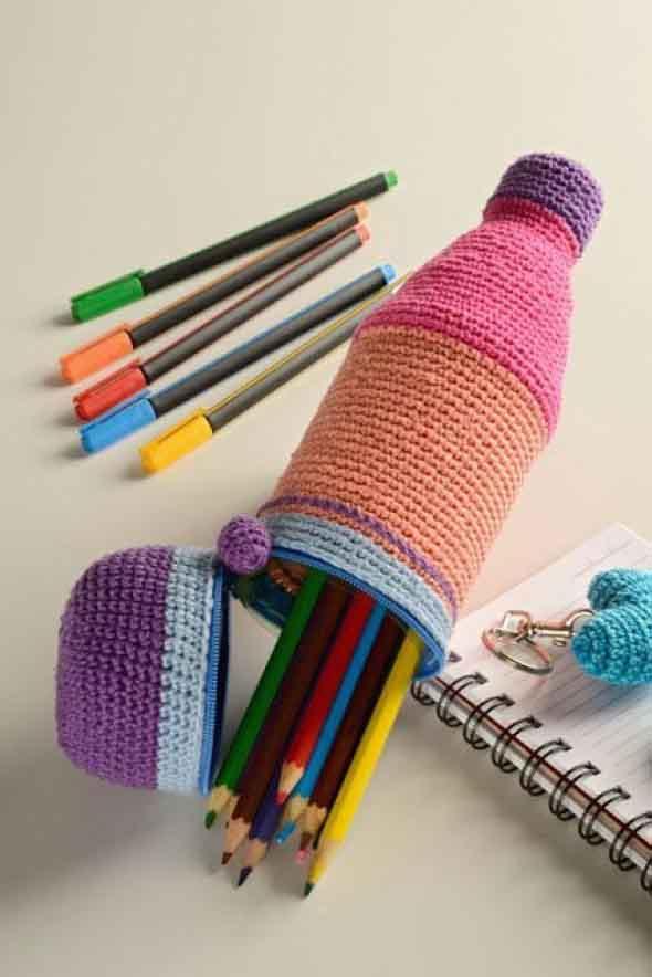 Populares Estojo escolar artesanal 007 LF24