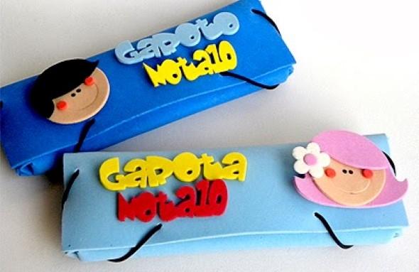 Estojo escolar artesanal 012