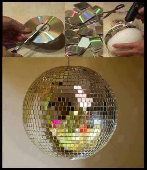 Ideias de artesanato com CDs e DVDs velhos 011