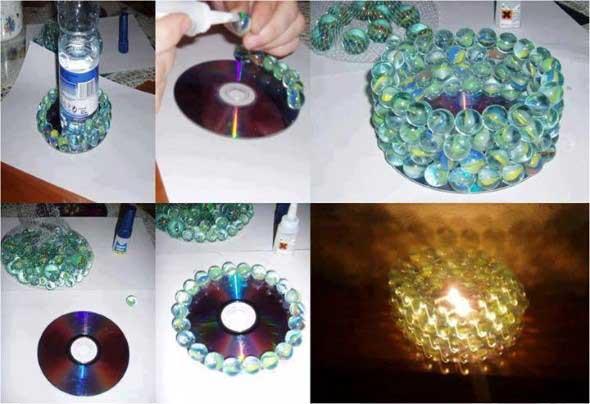 Ideias de artesanato com CDs e DVDs velhos 017