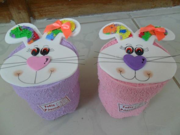 Lembrancinhas de Páscoa feitas com garrafa PET 004