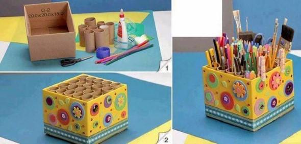 15 Ideias de artesanato com recicláveis do dia a dia 006