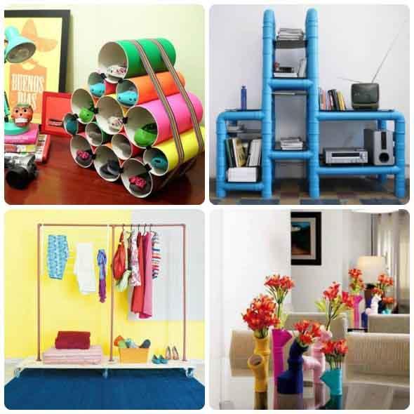 15 Ideias de artesanato com recicláveis do dia a dia 014