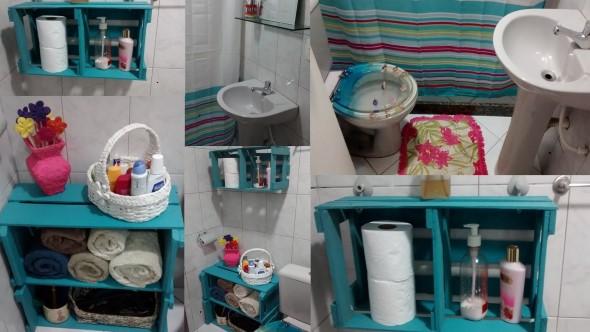 Como fazer nichos com gavetas e caixotes de feira 012