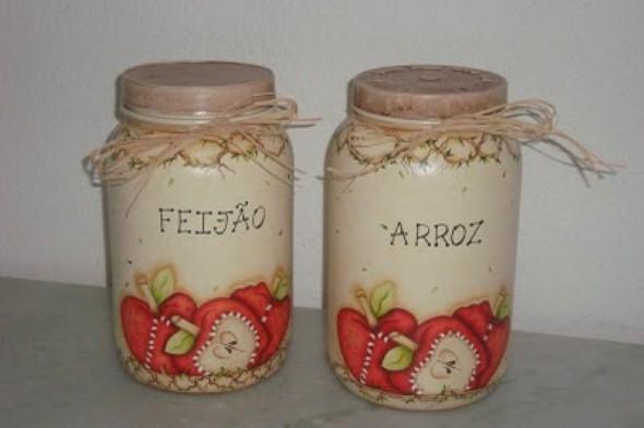 Como pintar potes de vidro em casa 001