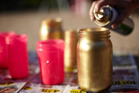 Como pintar potes de vidro em casa 005