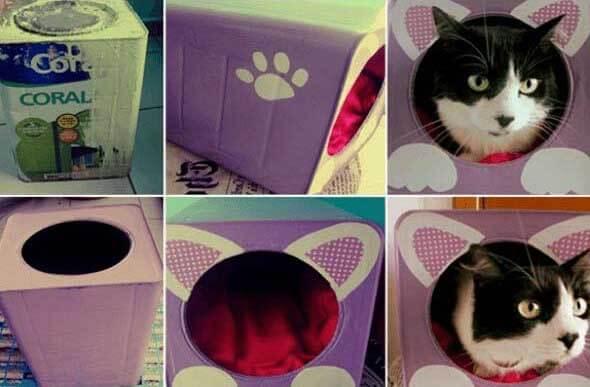 Aprenda a fazer uma cama artesanal para seu gatinho 001